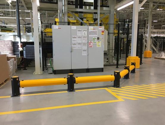 A-SAFE safety guardrail in Volvo factory