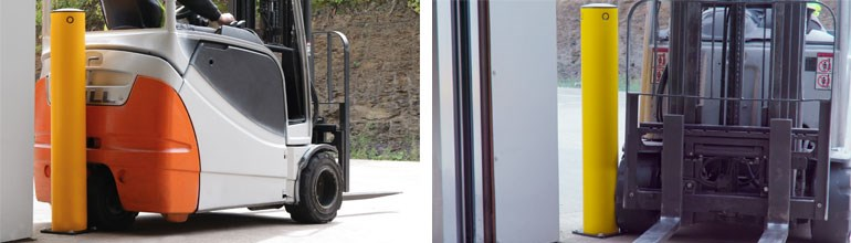 Concrete And Steel Bollards Handling Impacts