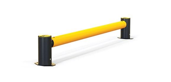 mFlex Single Traffic flexible polymer safety Guardrail (Micro) side view