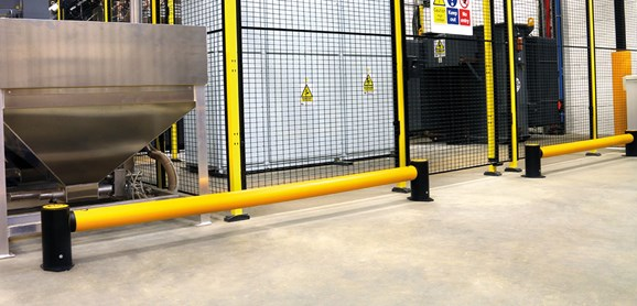 Single Traffic flexible polymer safety Guardrail at factory