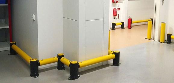 Single Traffic flexible polymer safety Guardrail at JandJ